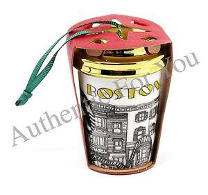 New 2015 Starbucks Boston Green City Christmas Tree Ornament - Tumbler Mug Cup