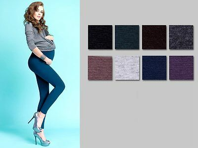 PräZise Winter Thick Heavy Warm Maternity Cotton Front Panel Full Ankle Length Leggings