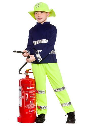Fireman Rescue Boys Fancy Dress Fire Fighter Brigade Uniform Kids Childs Costume