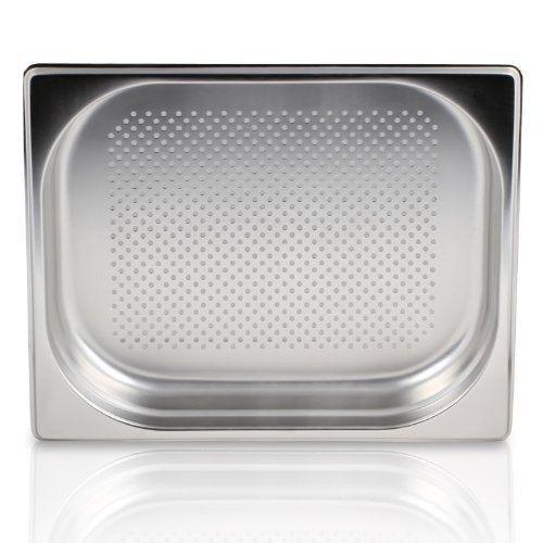 : Greyfish GN-Behälter Edelstahl // GN 2//3 // 40mm gelocht