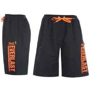 Everlast-mens-shorts-gym-sports-boxing-training-running-S-M-NavyOrange