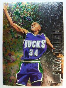 1996-96-97-Fleer-Metal-Ray-Allen-ROOKIE-RC-186-Bucks-Heat