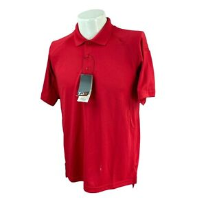 5.11 Tactical Men's Performance Polo Short Sleeve Polyester Red NWT Shirt Small