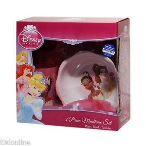 Disney-Princess-Baby-Feeding-Set-Plate-Bowl-Cup-Children-Mealtime-Set-BPA-Free