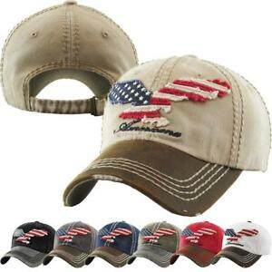 Details about Vintage Distressed Hat Baseball Cap - Eagle Flag USA - KBETHOS b8ae2bbd8e5