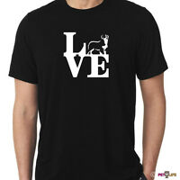 Love Bernese Mountain Dog Tee Shirt Park Berner