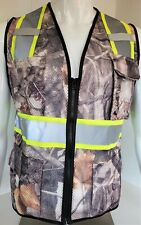 Fx High Visibility Reflective Camouflage Safety Vest With Id Pocketsmall 5xl