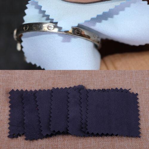 10x Bijoux chiffon nettoyant anti-ternissure outil de polissage pour platine or
