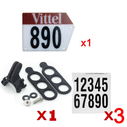 Custom Bicycle Number Plate Mount Holder Decals for Road Bike Triathlon Seatpost