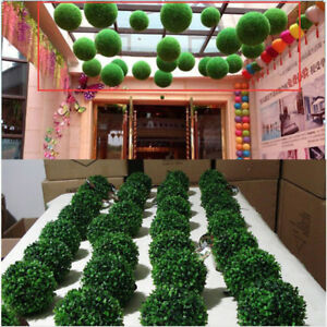 Détails sur Herbe Boule Artificielle Plastique Buis Plante Décoration  Mariage Jardin Maison