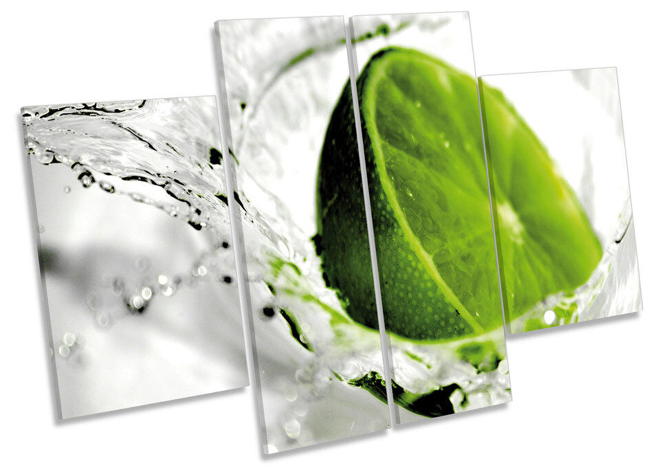 Verde Lima Cocina Splash Splash Splash fruta LONA pa rojo  arte Foto impresión de panel de múltiples 275266