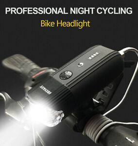 MTB Road Bike Cycling Front Lights Bicycle Bright LED USB Rechargeable Headlight