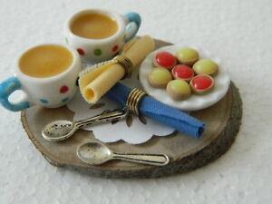 (f13) Maison De Poupées Handmade Thé Et Tartelettes Set-afficher Le Titre D'origine Dbs4hiz7-07171105-347223141