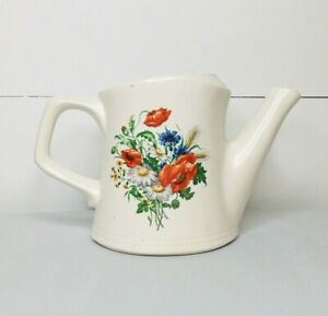Vintage McCoy Pottery Ceramic Watering Can Planter Floral Design*