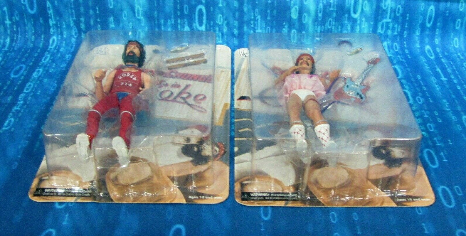 CHEECH AND CHONG FIGURE SET MINT IN FACTORY BUBBLES , , , VERY CLEAN BRIGHT COLORS c17517