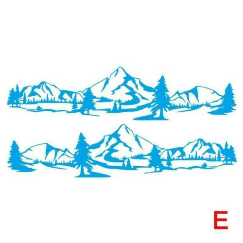 For Camper Van RV Off Road Nice Side Body 2pcs Stickers Forest Mountain M5B7
