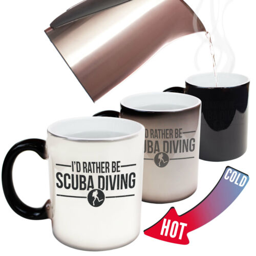 Scuba Diving Mugs OW Id Rather Be Scuba Diving Mugs Snorkelling Dive MAGIC MUG