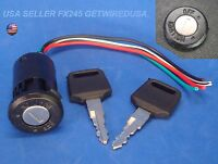Universal Ignition Switch Flush Mount 12-volt 2-key 2 Position On Off Lock