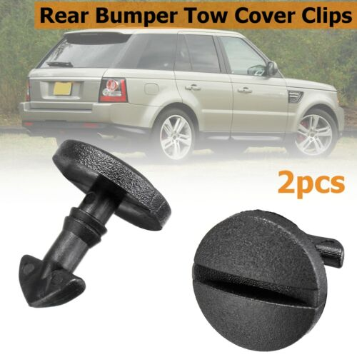 2x Rear Bumper Tow Cover Clip Towing Eye Trim DYR500010 For Land Rover Discovery