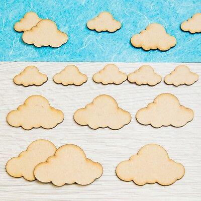 5Wooden Cloud Mdf Craft Shape Wooden Blank