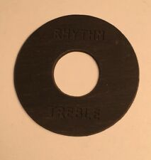 AGED Round CREAM RHYTHM TREBLE TOGGLE SWITCH PLATE for 1956 Les Paul Gibson