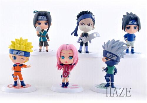 6PCS Anime Uzumaki Naruto Naruto Shippuden Figure Figurine Jouets