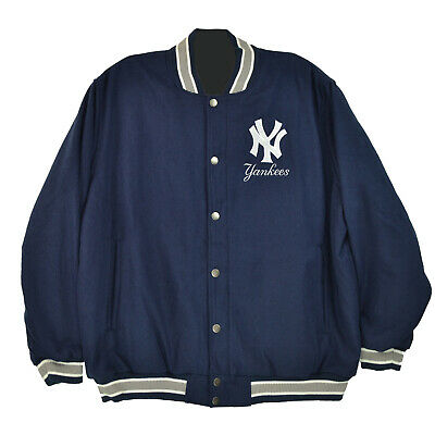 GIII New York Yankees Men/'s Wool Jacket Navy//White la150240-nyy
