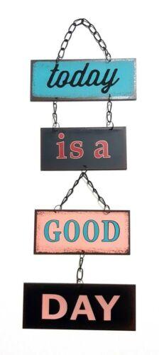 Ретро винтаж металл Подвесная настенная табличка с цепочкой сегодня хороший день