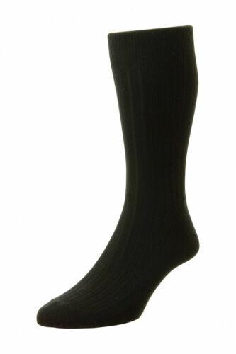 Mens HJ Hall Classic Broad Rib HJ111 Cotton Rich Socks UK 6-15
