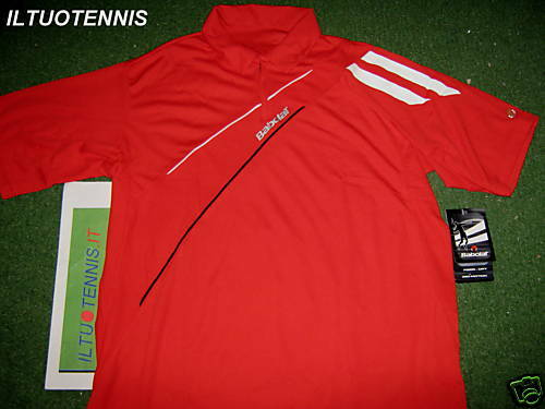Polo tennis BABOLAT mod.CLUB col. red -sped.inclusa