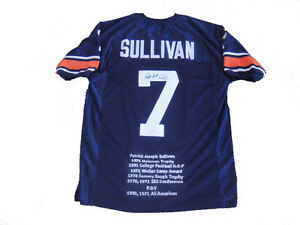 cheap for discount 42df8 2ab10 Details about Pat Sullivan Signed Auburn Tigers Hesiman Stat Jersey JSA