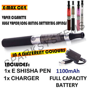 Details about ELECTRONIC E-CIG VAPE PEN/E SHISHA HOOKAH STARTER KIT & 1100  MAH BATTERY/CHARGER