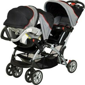 Double Travel System Stroller Baby Infant Twin Car Seat ...