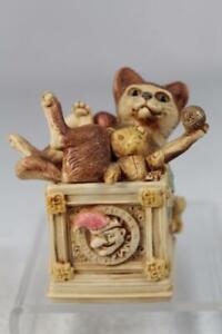 Harmony Kingdom /'Courtenay/' Adorable Cat TJDLCA6-2 Version 2 New In Box!