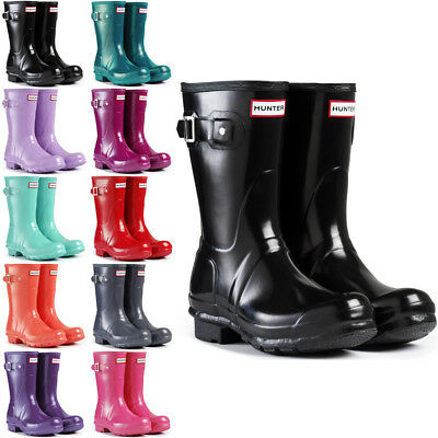 Femmes Hunter Boots Original Short Gloss Haut Bottes Pluie De Neige 35 42 | eBay