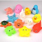 13 pcs Animals Toys Float New Sound Bath Rubber Play Baby Soft Kids Sqeeze