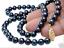 "AAA7-8mm Negro maravilloso collar de perlas 17/"""