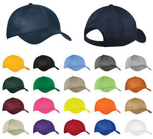 6db5b7e28a5 Image is loading Adjustable-Six-Panel-Hat-OSFA-Cotton-Twill-Cap-