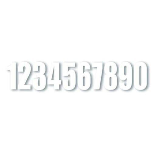"""6-Inch /""""5/"""" One Industries Supercross Racing Numbers Digit 3-Pack Decals White"""