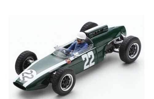 Spark Formule 1 Cooper T60 N°22 German Gp 1963 Mário de Araújo Cabral 1 43 S5292