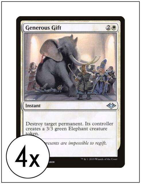 4x generous gift modern horizons magic the gathering mtg