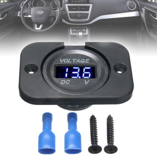 LED Digital Display Voltmeter Car Motorcycle Voltage Volt Gauge Panel Meter 1224