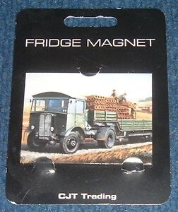 Fridge-Magnet-034-AEC-and-trailer-being-loaded-034-from-picture-by-artist-Mike-Jeffries