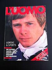 L'uomo VOGUE 1980 vintage DIDIER PIRONI F1 Ferrari sports S Tacchini Fila RARO