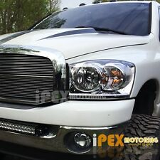 NEW For All 2006 2007 2008 Dodge RAM 1500 2500 3500 Chrome Headlights Headlamps