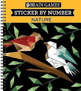 Details About Brain Games Color By Stickers Nature Brand New Free Shipping In The Us