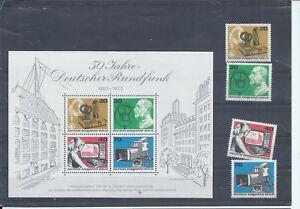 Berlin  West Germany stamps 1973 50 Years of German Broadcasting MNH  B280 - Uxbridge, United Kingdom - Berlin  West Germany stamps 1973 50 Years of German Broadcasting MNH  B280 - Uxbridge, United Kingdom