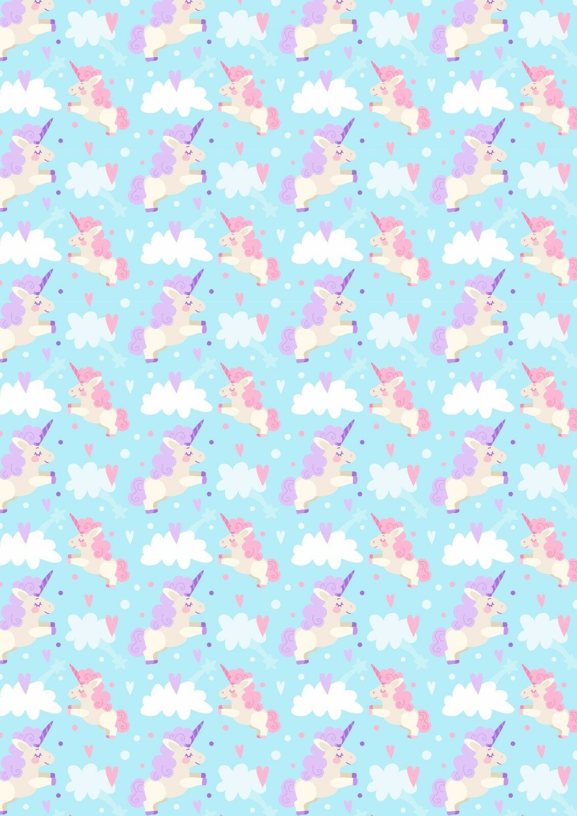Unicorn Rainbows Fabric Sheet Canvas Bow Making Craft Hair Bows