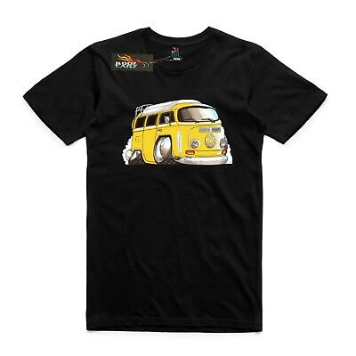 VW Kombi Camper van T-shirt AS Colour Custom Print Bay window yellow 70/'s
