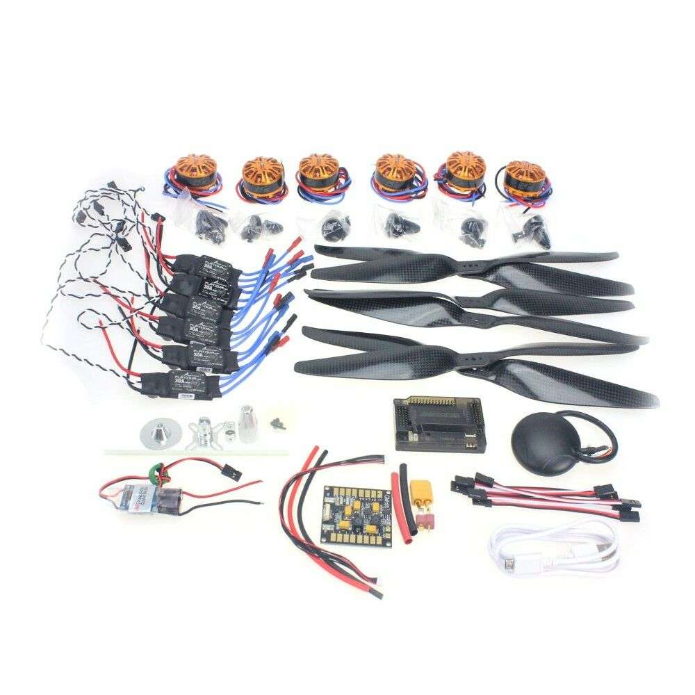 RC hexacopter Six-Axis Aircraft Electronic  motor ESC hélices GPS f15276-a